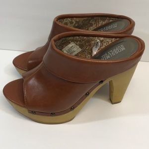 Mossimo   Open Toe Brown Mules/Clogs w/heel